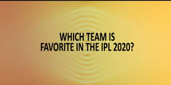 Favourite team of IPL 2020